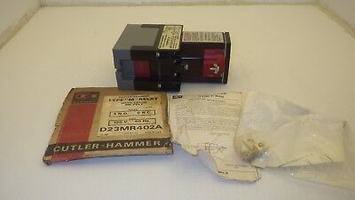 "Cutler Hammer D23Mr402A Type ""m"" Relay With Latch 300V 4No/0Nc 120V Coil Nnb"