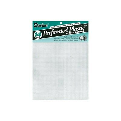 Daric 2-piece Perforated Plastic No.14 Mesh Plastic Canvas, 8.25 By 11-inch, -
