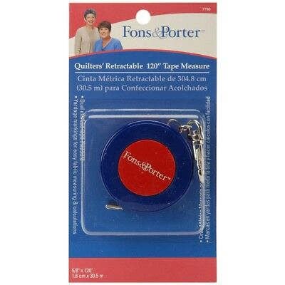 Dritz Steel Fons And Porter Retractable Tape Measure - Measure120