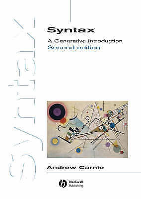 Syntax: A Generative Introduction by Andrew Carnie (Paperback, 2006)