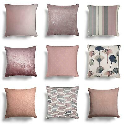 "Blush Pink Heather Mauve Cushion Covers Collection 17"" / 18"" 43cm / 45cm Cover"