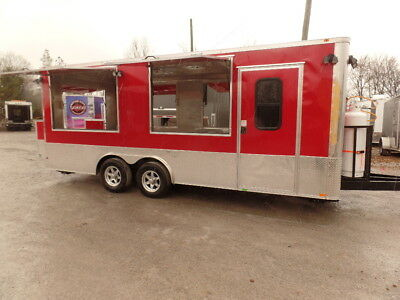 Concession 8.5x20 Red Kettle Corn Trailer