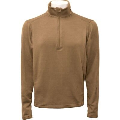 Beyond Clothing Thermal Winter Dry Fleece/Grid Pullover, ECWCS Layer 2 Coyote