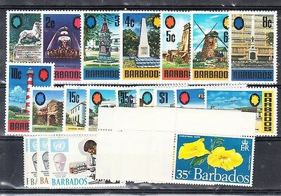 Barbados Scott 328-352 Mint NH (Catalog Value $22.20)