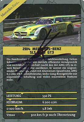 Kenneth Heyer Mann Filter AMG Mercedes SLS GT3 Top Karte 10x15