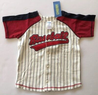 NWT Gymboree Play Ball Size 3T Red White & Blue Baseball Jersey Top