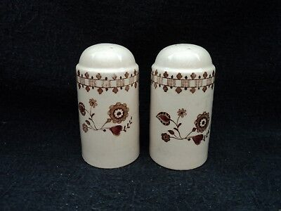 Johnson Brothers - JAMESTOWN BROWN - Salt and Pepper Set