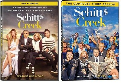 SCHITT'S CREEK TV Series Complete Seasons 1-3 DVD Bundle NEW Free Ship 1 2 3