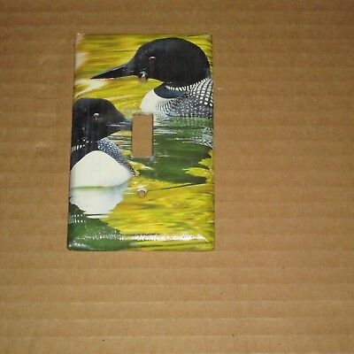 CANADIAN WILD LOON Loons BIRD Light Switch Cover Plate