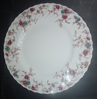 "MINTON Ancestral S-376  Bone China Made in England 10-1/2"" Dinner Plate"
