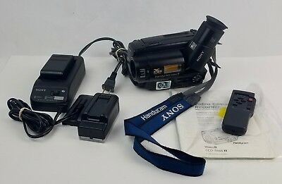 Sony Handycam Video 8 Camera 8mm CCD-TR66 VCR Camcorder Working Bundle