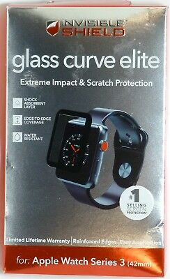 Zagg InvisibleShield Glass Curve Elite for Apple Watch Series 3 (42mm)