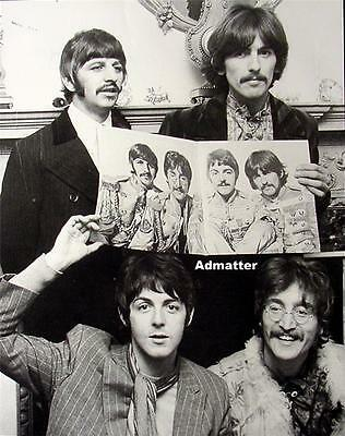 Beatles 11X14 Pin-up Poster Sgt. Pepper Photo Vintage Print