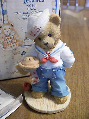 "CHERISHED  TEDDIES ""Bob"" the U.S.A. SAILOR Figure"