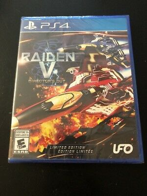PS4 Raiden V: Director's Cut Limited Edition w Soundtrack CD PlayStation 4 Game