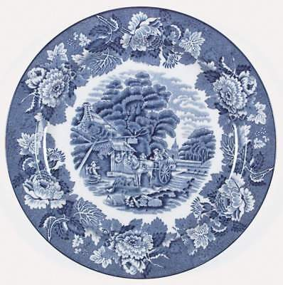 """Wood & Sons ENGLISH SCENERY BLUE Plate 10"""" 773724"""