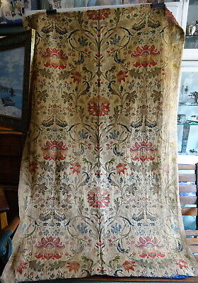 Stunning 19thC Antique French Silk Brocade Large Curtain Panel 18th c style