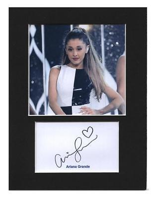 Ariana Grande signed printed autograph mounted photo 8x6 display gift