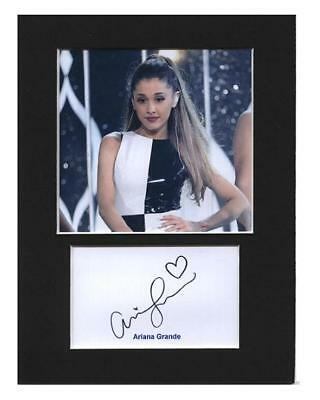 Ariana Grande signed printed autograph photo print mounted gift display #A