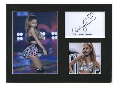 Ariana Grande signed printed autograph photo print mounted gift display #E