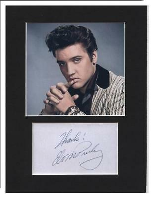 Elvis Presley signed printed autograph photo print mounted gift display #B