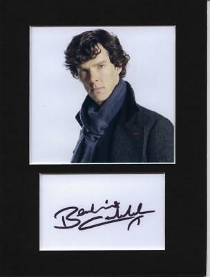 Benedict Cumberbatch signed printed autograph photo print mounted gift display