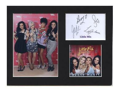 Little Mix signed printed autograph photo print mounted gift display #E
