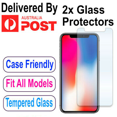 2X Tempered Glass Screen Protector For Apple iPhone 6s 6 7 8 PLUS X XR XS Max