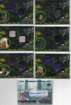 Marvels Black Panther - Autograph, Costume Relic & Sketch Card Selection NM