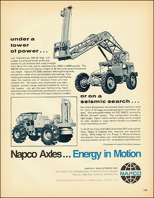 1973 vintage Ad, Napco PS 1200 Axles used on Lull High Lift Loader- 011814