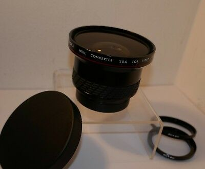 SIGMA 0.6x WIDE CONVERTER LENS for 52mm Threads with 46mm & 49mm step rings