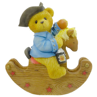 Cherished Teddies PAUL Resin Teddy Bear Lantern Horse 676888