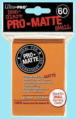 Ultra Pro 60 ORANGE PRO-MATTE Small Deck Protector Card Fight Vanguard Sleeves