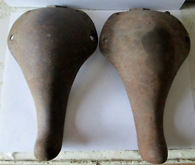 Lot Of 2 Antique Cast Iron  8 Inch Stove Legs