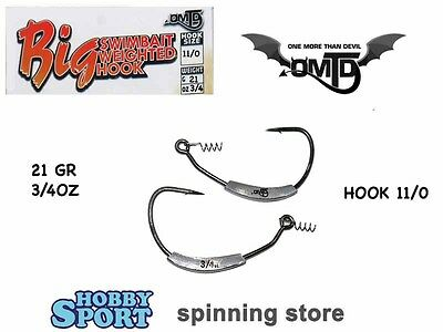 Omtd Weighted Big Swimbait Hook With Lure Keeper Oh2400w