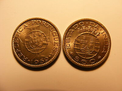 Portuguse India 1959, 60 Centavos, KM#32, Two Year Type, UNCIRCULATED