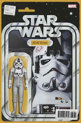 Star Wars #38 At-At Driver Action Figure Variant John Tyler Christopher Comic Bk