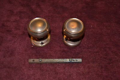 1 Set Of Antique Vintage East Lake Brass Door Knobs & Rosettes  #18
