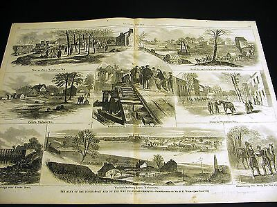 A.R. Waud Army of Potomac to FREDERICKSBURG VIRGINIA 1862 Large Civil War Print