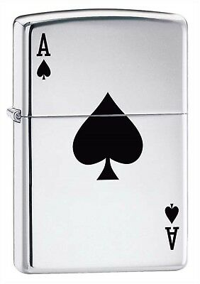 Zippo Pipe Lighter: Lucky Ace - High Polish Chrome 24011PL