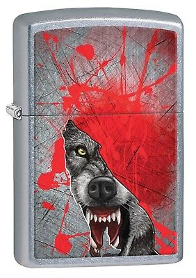 Zippo Lighter: Fierce Wolf - Street Chrome Finish 29344