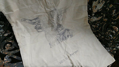 Great Old Large Feedsack with Steer Cow  Fertilizer Co.  Nice Primitive