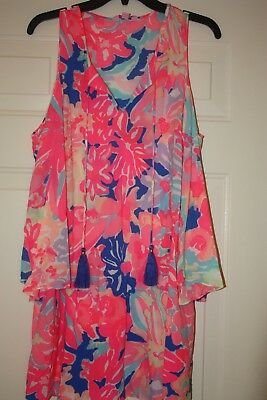 a3584c0a094 LILLY PULITZER Benicia Playa Hermosa Cold Shoulder Dress Sz S ~ Washed not  worn