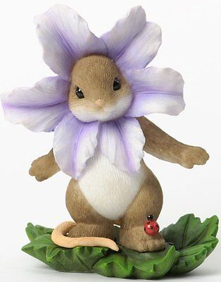 Charming Tails YOU'VE BLOSSOMED Mouse Dressed as a Flower Spring Easter Figurine