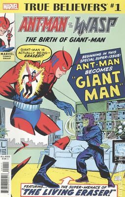 True Believers Ant-Man and Wasp Birth of Giant-Man #1 2018 NM Stock Image