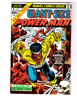 GIANT-SIZE POWER MAN #1 FN+ condition in a 1975 Marvel comic LUKE CAGE