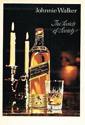 Johnnie Walker Old Scotch Whisky - Original Anzeige von 1963