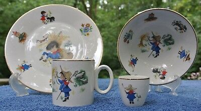 "Arklow Republic of Ireland Nursery Rhyme ""Little Boy Blue"" Childs Set of 4"
