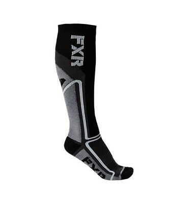 FXR Mission Mens Performance Long Socks Charcoal/Black One Size Fits All