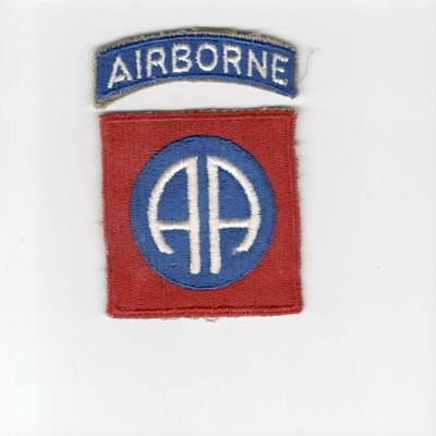 WW 2 US Army 82nd Airborne Division Patch & Tab Inv# J201